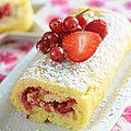 Biscuit roulé aux fruits rouges