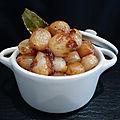 Oignons grelots confits à l'aigre-douce à l'italienne (cipolline in agrodolce)