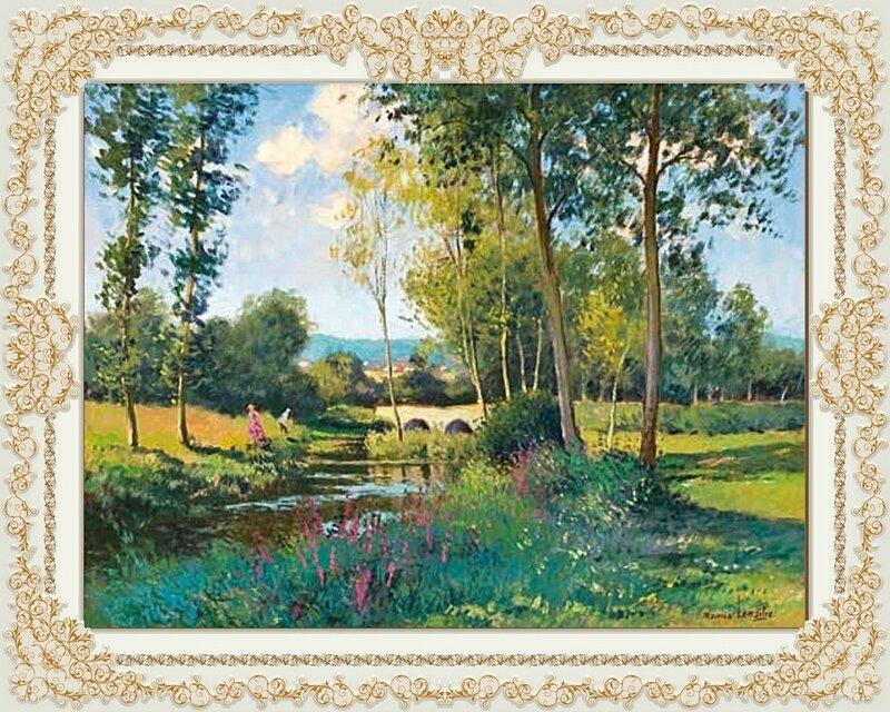 Maurice Lemaître Scène champêtre 46,5x61cm