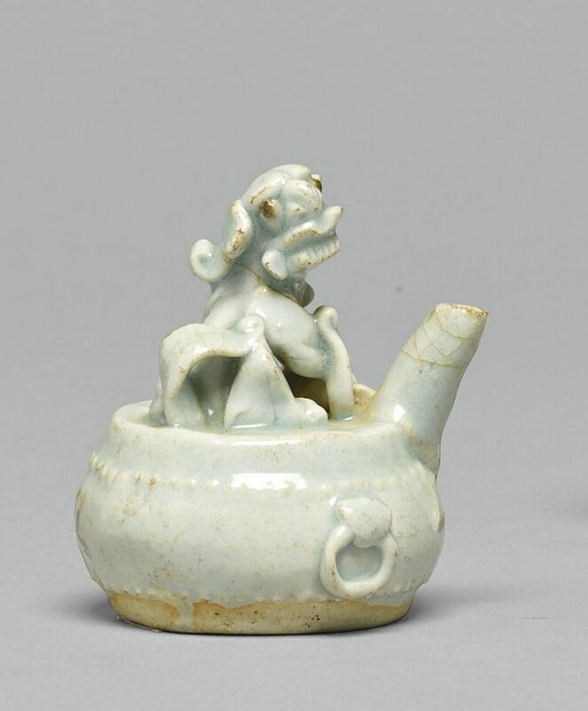 A small Qingbai 'Lion' waterdropper, Song dynasty