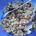 Salade de pate et légumes frais