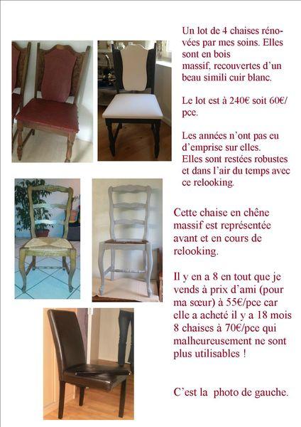 Comparaison chaises