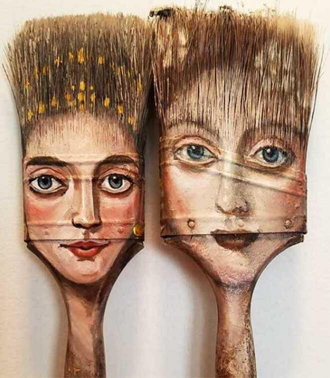 alexandra-dillon-art-portraits-recyclage-pinceaux-4