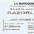 Razorlight - lundi 6 octobre 2008 - la maroquinerie (paris)