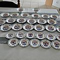 Service de table faience fine decor MULHOUSE