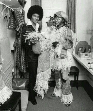 Michael visits with Hinton Battle, who performed the role of the Scarecrow in the Broadway version of The Wiz