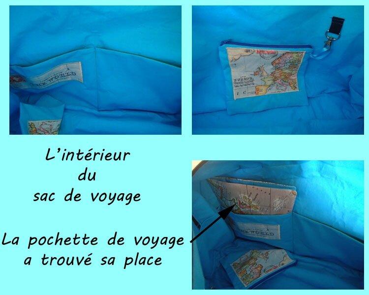 sac voyage intérieur