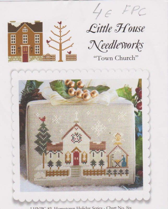 Town church Little house of needlework Hometown holiday serie 001