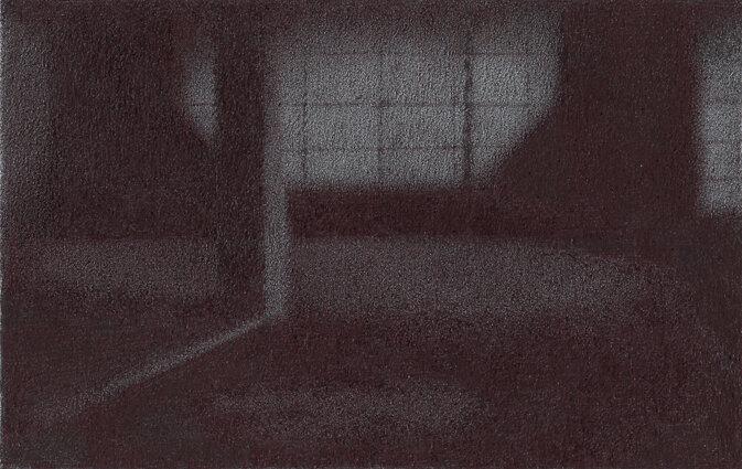 Valérie no tabi, chez Ozu II, stylo bille sur papier, 8,4x5,4, 2018, leger
