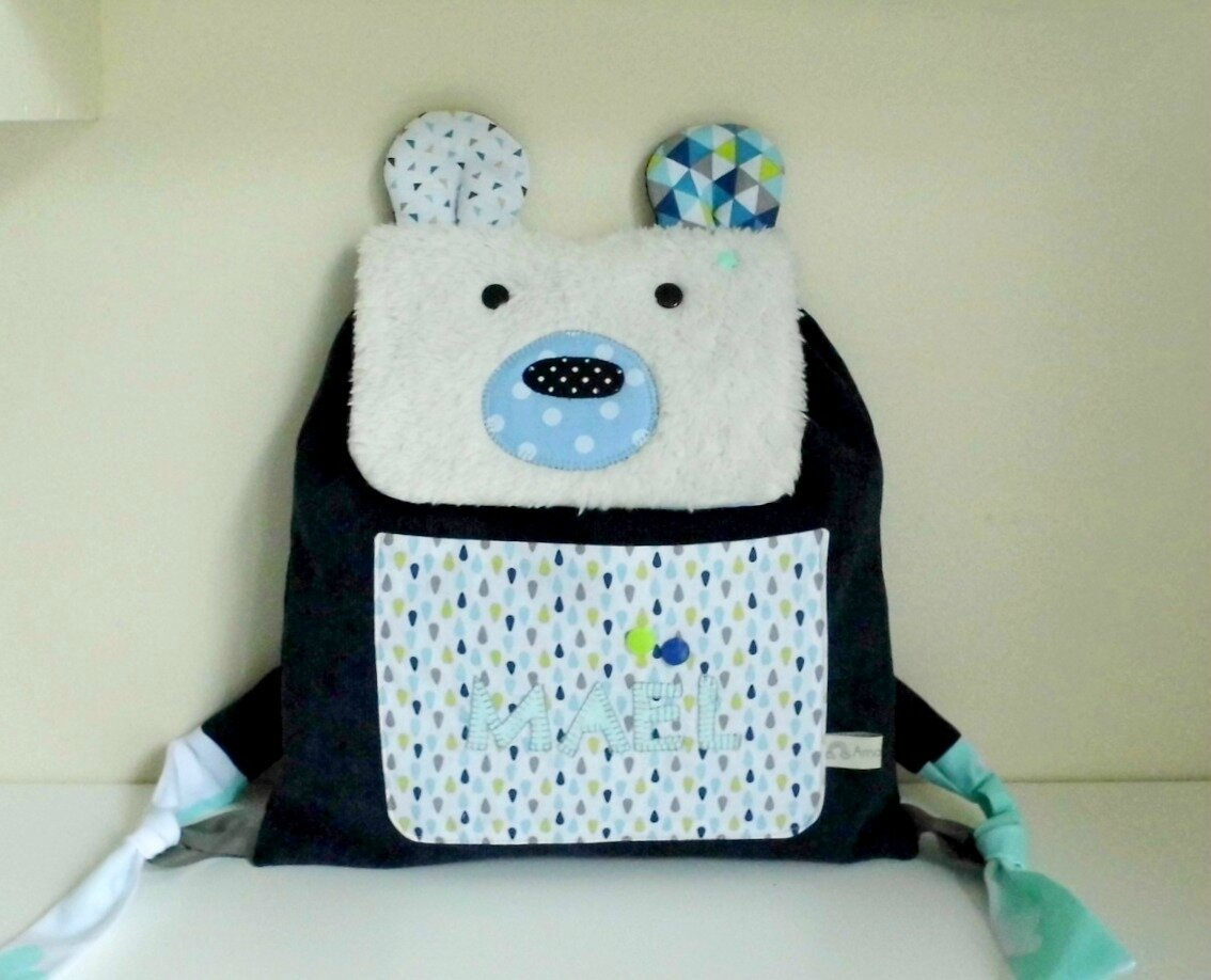 sac ours polaire maternelle Maël