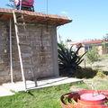 toilettes + douche bio avec chauffage d'eau dans tubes solaires