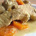 Blanquette de dinde à la fève tonka