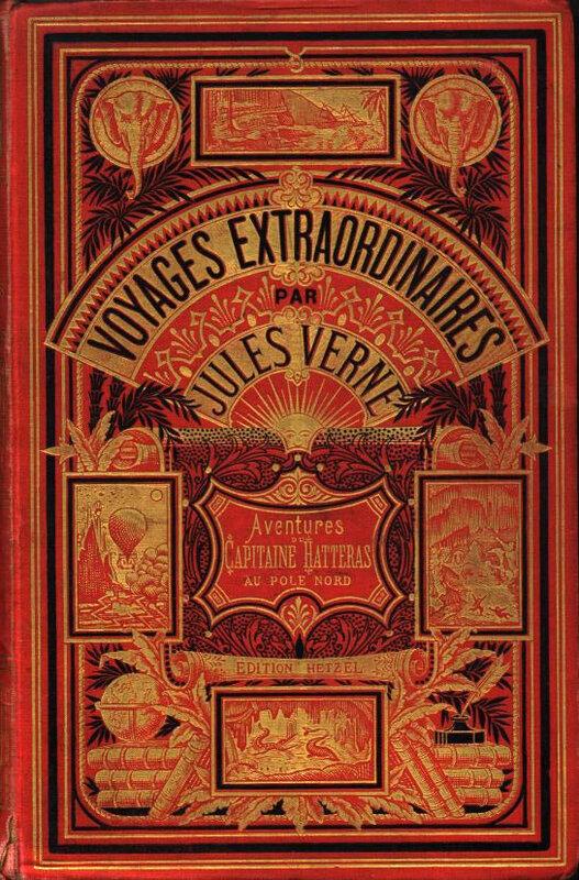 Verne Voyages extraordinaires, Hetzel, couv
