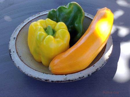 Poivrons-courgette jaune