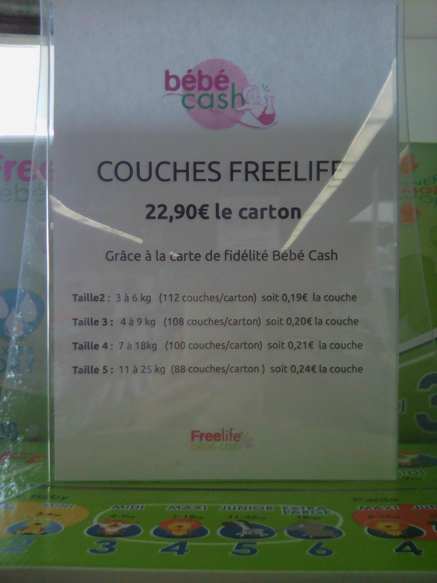 Les Couches Freelife De Autour De Bébébébé Cash Moi Petite Maman