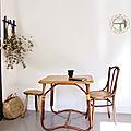 Table rotin vintage as