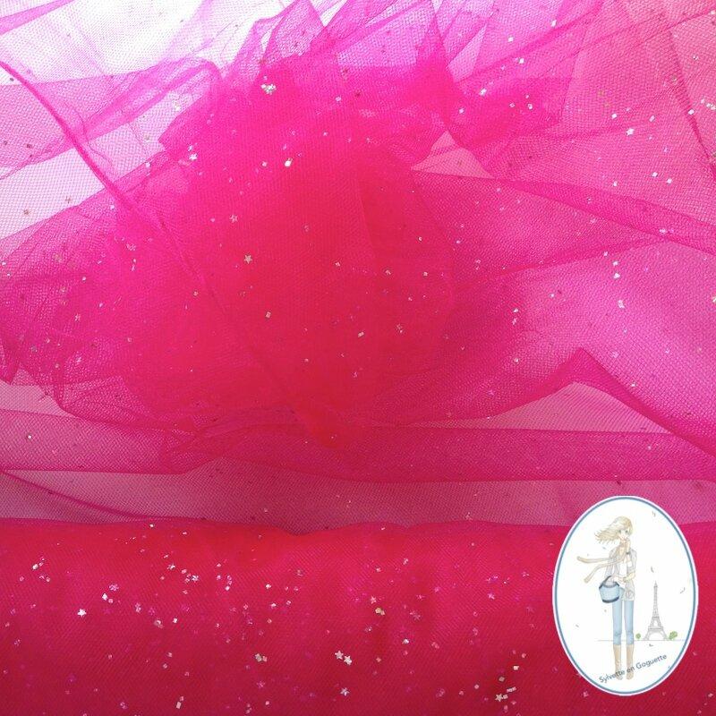 tulle paillette rose fuchsia sylvetteengoguette