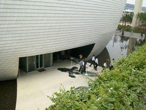 photo de la sortie du pavillon de la Finlande - Shanghai 2010