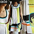 Nouvelle vague : préparez votre printemps/ été en mode couleurs acidulées ! une robe bicolore au look pop !