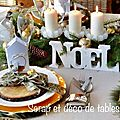 Ma derniere decoration de table de noel de cette annee