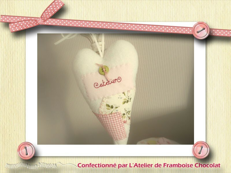 Coeur rose patch...