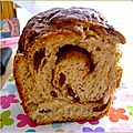 Brioche cannelle raisin