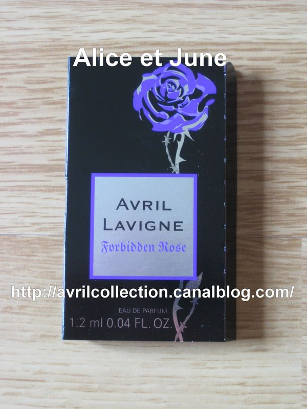 Forbidden Rose Product - échantillons promotionnels