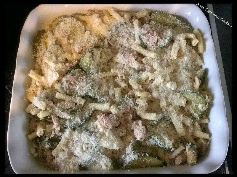 gratin de pâte thon courgette 03