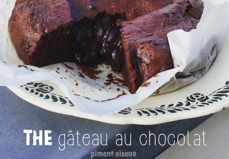 the gateau au chocolat