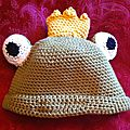 Bonnet grenouille grand de face