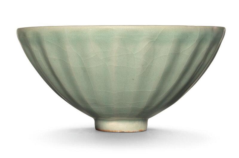 A 'Longquan' celadon 'Lotus' bowl, Song dynasty (960-1279)