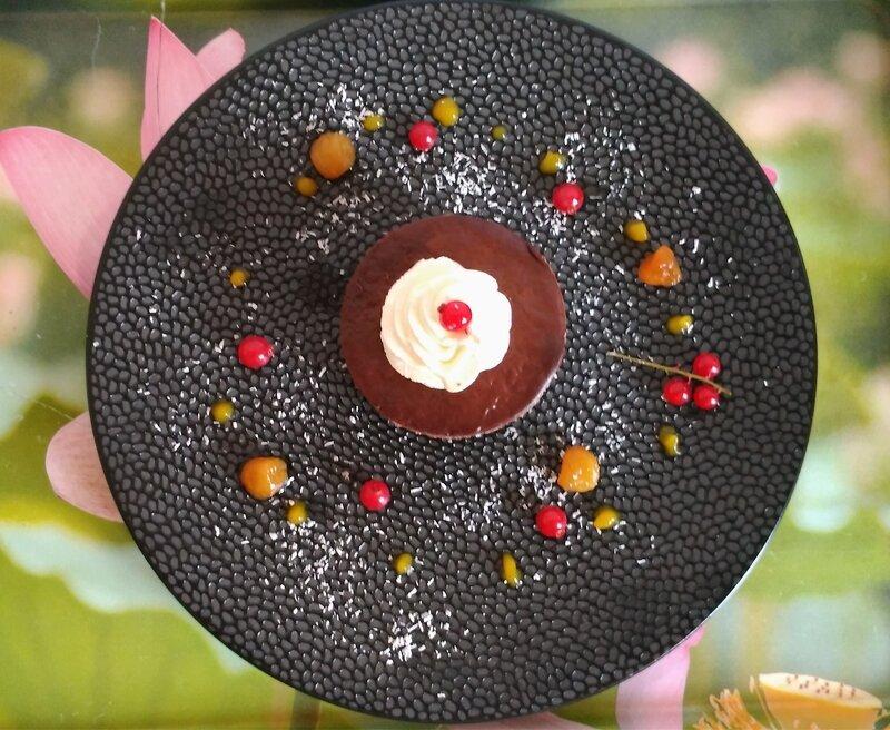 Mini bavarois chocolat-coco ( du chef Custos)
