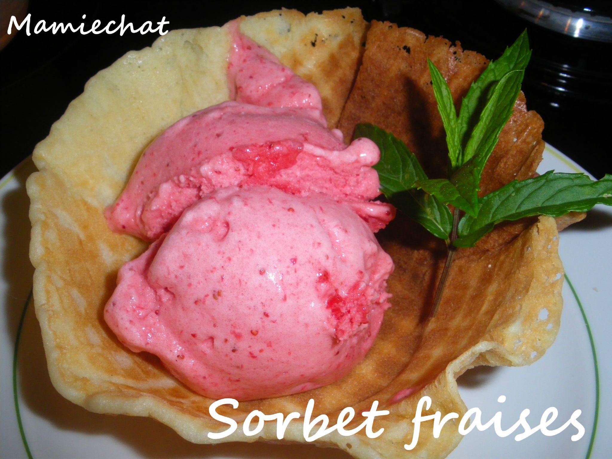 Sorbet fraises