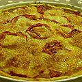 Tarte tomates, mozzarella, chorizo de frédéric anton