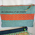 POCHETTE LIN TURQUOISE FACE A