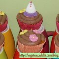 Cupcakes poules