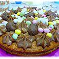 Gateau de paques chocolat framboise