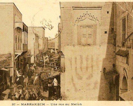 37 MARRAKECH Une rue du Mellah Limanton