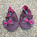 Les petits chaussons à gros noeuds