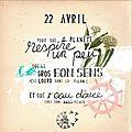 Le 22 avril, j'y serai. et vous ?