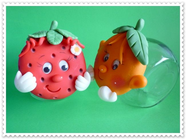 pots fraise et orange