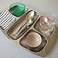 Plateau-repas inox vintage 70's