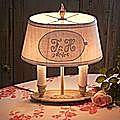 lampe bouillotte monogramme FH