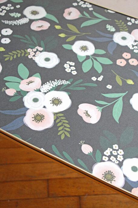 table-basse-vintage-fleurs-papier