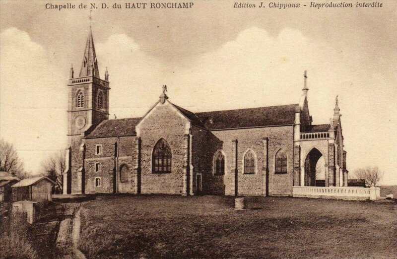 CPA Ronchamp Notre-Dame du Haut 1930