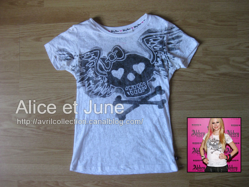 Abbey Dawn Winged Skull Burnout Tee