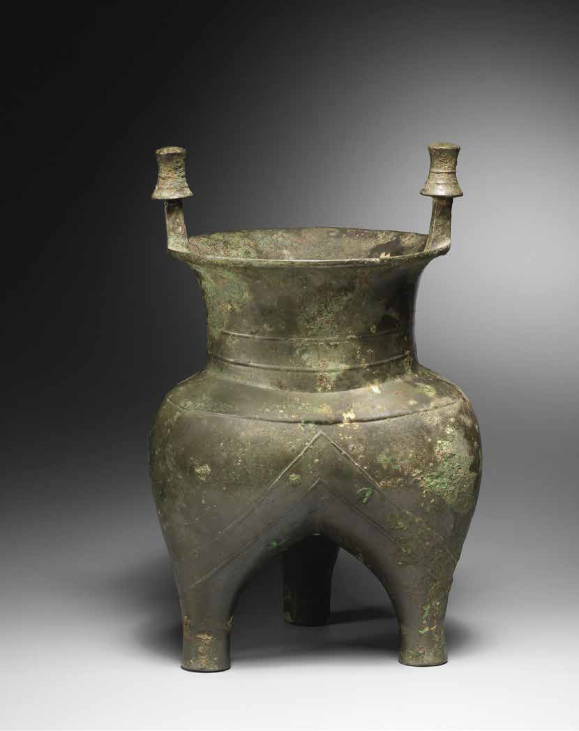 Antiques Chinese Gilt Bronze Censer Three Joint Dragons Shaped Dynasty Funerary Censer