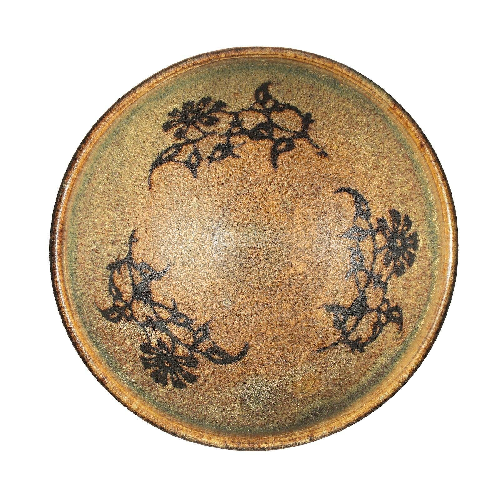 A fine and rare Jizhou paper-cut-out 'flower sprays' bowl, Southern Song Dynasty