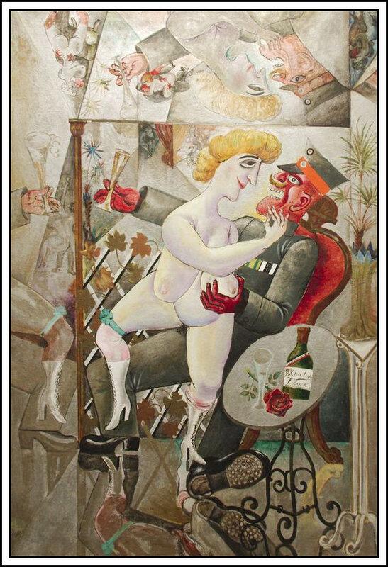 Otto Dix - Souvenirs de la galerie des glaces de Bruxelles - 1920