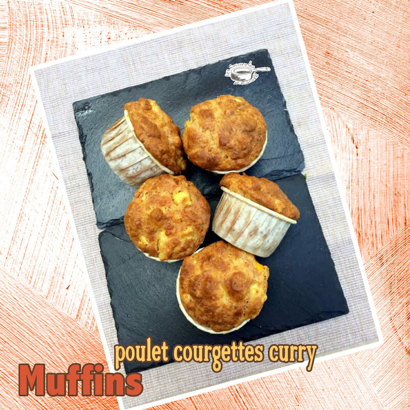 muffins poulet courgettes curry SCRAP